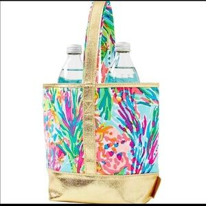 Lilly Pulitzer Sea Pants Wine Tote